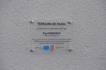 Inauguration padels brignais