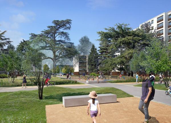 Vue du futur quartier des Pérouses