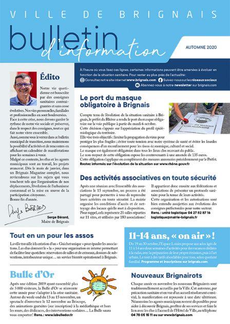 Bulletin d'information – Automne 2020