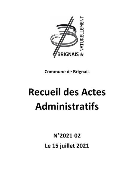 Recueil des actes administratifs (RAA) – 2e trimestre 2021