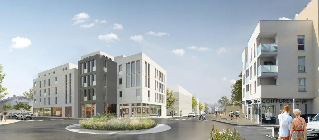 perspective futur quartier gare Brignais