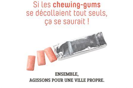 Campagne Propreté chewing gum Brignais