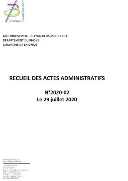 Recueil des Actes administratifs (RAA) – 2e trimestre