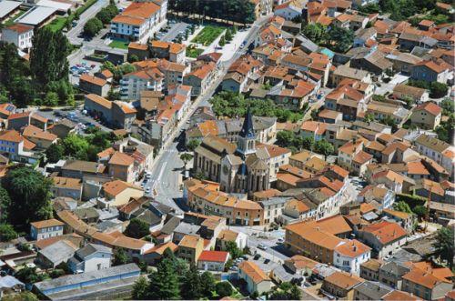 Vue aérienne du Centre Ville de Brignais