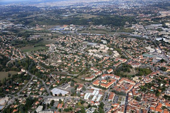 Vue aérienne Brignais Vallée du Garon